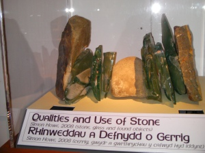 Simon Howe's 'Qualities and use of Stone' 2008 showing labelling and display