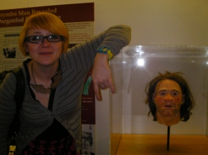 Brymbo Man's Head (reproduction); Kirsty Hillyer, Dir 'Multistory' community arts company, West Bromwich (real)